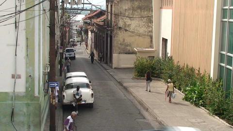 Streetview oldtimer Stock Video Footage
