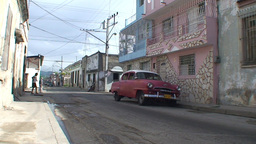 Streetview with oldtimers Footage