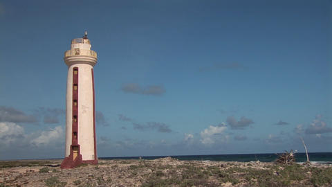 Lighthouse on Bonaire Stock Video Footage