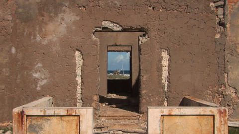 Old ruin on Bonaire Stock Video Footage
