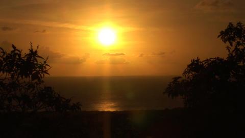 Sunset on Bonaire Stock Video Footage