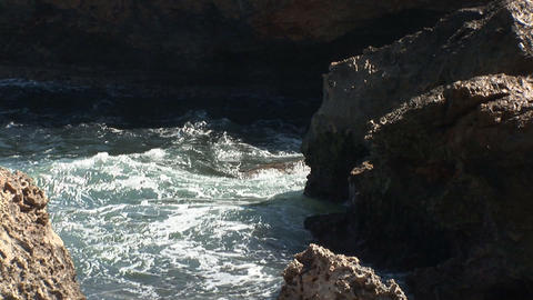Rough coast on Curacao Stock Video Footage