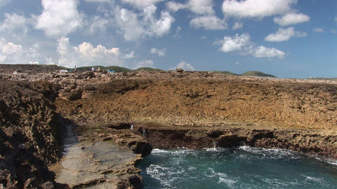 Blowhole on Curacao Stock Video Footage