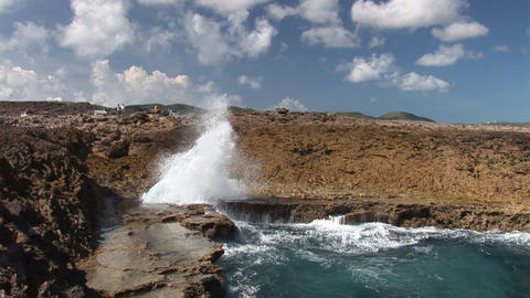 Blowhole on Curacao Footage