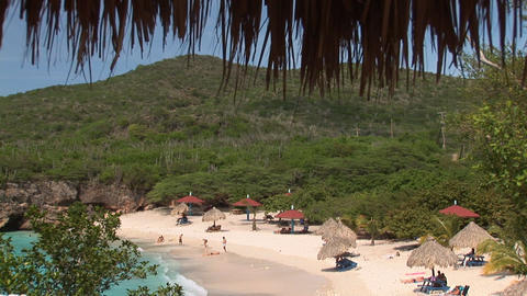 Tropical beach on Curacao Footage