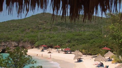Tropical beach on Curacao Stock Video Footage
