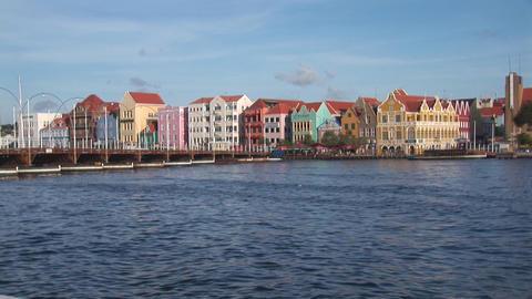 Pontoon bridge opens in Willemstad, Curacao Stock Video Footage