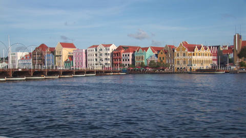 Pontoon bridge opens in Willemstad, Curacao Footage