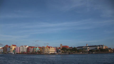 Colorful, traditional houses of Willemstad Stock Video Footage