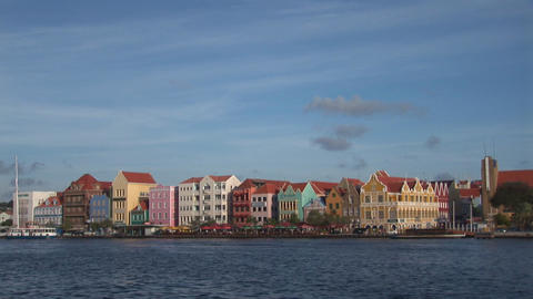 Ferry in Willemstad Footage