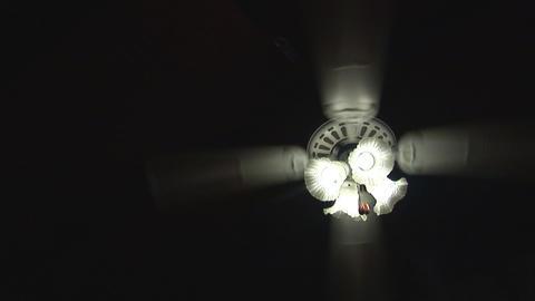Ceiling fan on black Stock Video Footage