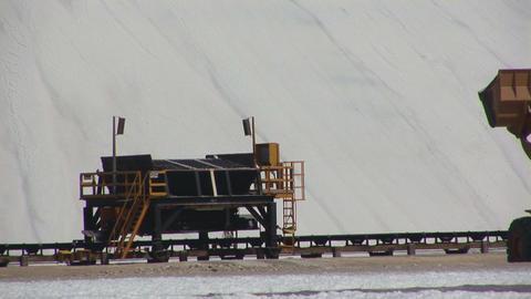 Salt mining on Bonaire Stock Video Footage