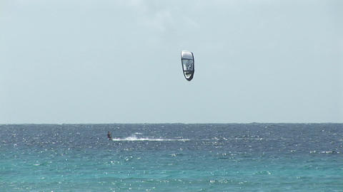 Kitesurfer highspeed Stock Video Footage