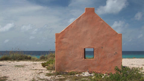 Slave hut on Bonaire Stock Video Footage