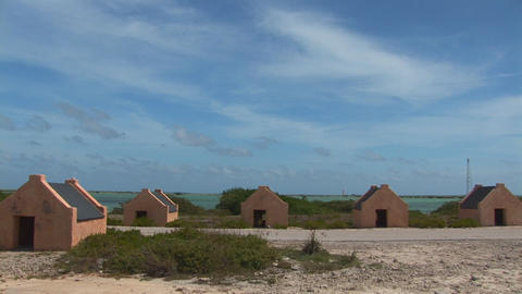 Slave huts Stock Video Footage