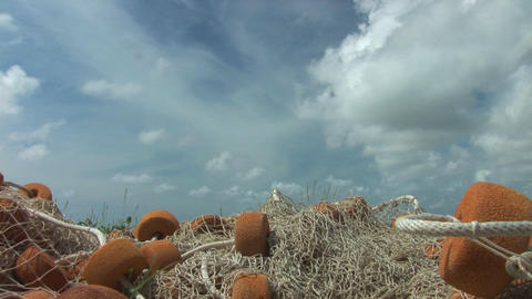 Fishing net low close Stock Video Footage