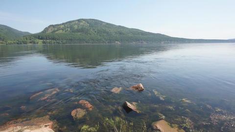 Siberian River Yenisei 02 pan right Footage