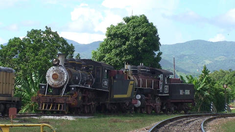 Trinidad old steam train Stock Video Footage