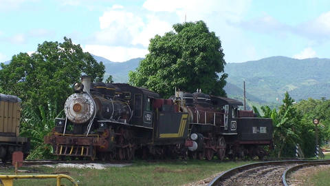 Trinidad old steam train Footage