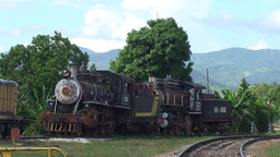 Trinidad old steam train Stock Video Footage