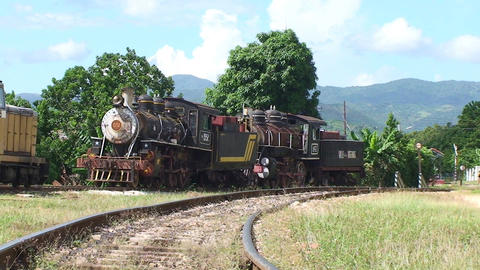 Trinidad old steam train 3 Stock Video Footage