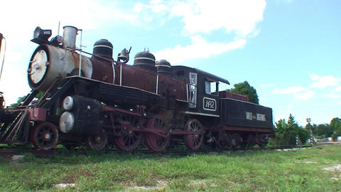 Trinidad old steam train panshot Stock Video Footage