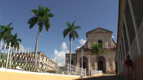 Trinidad Parroquial de la Santisima church 2 Stock Video Footage