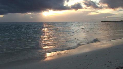 Trinidad Playa Ancón beachview at sunset Stock Video Footage