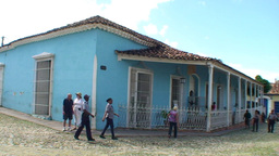 Trinidad Plaza Mayor panshot 2 Footage