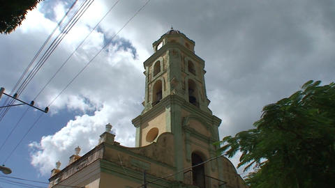 Trinidad San Francisco de Paula Church tilt down Stock Video Footage