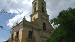 Trinidad San Francisco de Paula Church tilt down Footage