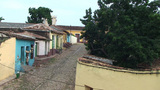 Trinidad Streetview colonial houses 3 Footage