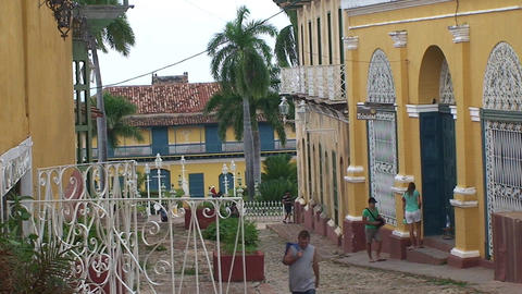 Trinidad Streetview colonial houses 5 Footage