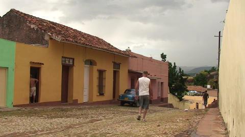 Trinidad Streetview oldtimer 4 Stock Video Footage