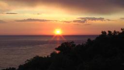 Trinidad sunset at playa Ancón timelapse Footage