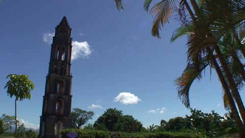 Valle de los Ingenios Manaca Iznaga tower 2 Stock Video Footage