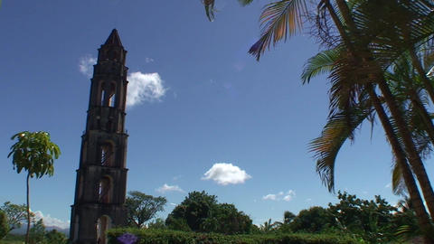 Valle de los Ingenios Manaca Iznaga tower 2 Stock Video Footage