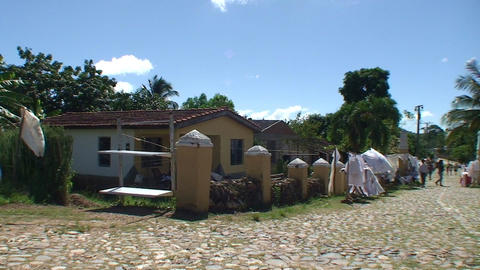 Valle de los Ingenios Manaca Iznaga tower market 2 Stock Video Footage