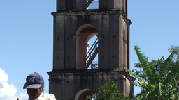 Valle de los Ingenios Manaca Iznaga tower tilt dow Stock Video Footage