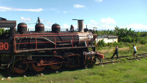 Valle de los Ingenios train old steamtrain Stock Video Footage