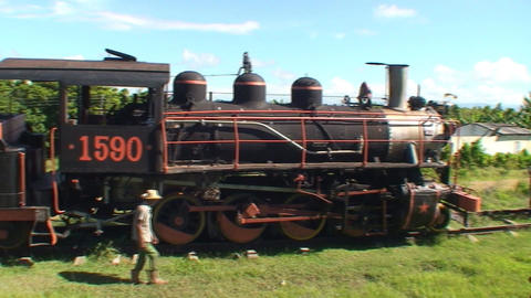 Valle de los Ingenios train old steamtrain Stock Video Footage
