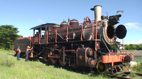 Valle de los Ingenios train old steamtrain 3 Stock Video Footage