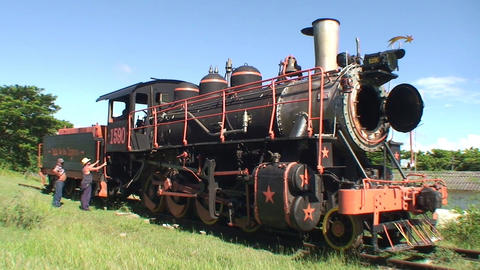 Valle de los Ingenios train old steamtrain 3 Stock Video Footage