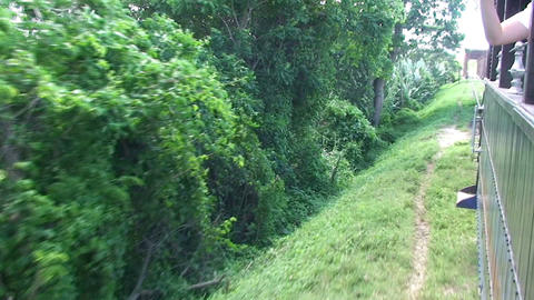 Valle de los Ingenios train train leaving hacienda Stock Video Footage