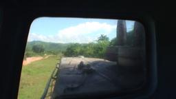 Valle de los Ingenios train view from the locomoti Stock Video Footage