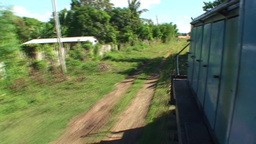 Valle de los Ingenios train view from the train 2 Stock Video Footage