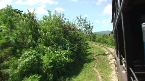 Valle de los Ingenios train view from the train 10 Stock Video Footage