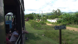 Valle de los Ingenios train view from the train 12 Stock Video Footage