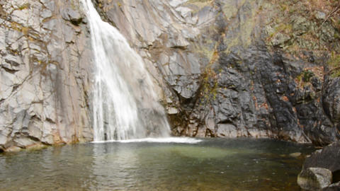 Water fall in the mountains around Kobe Stock Video Footage
