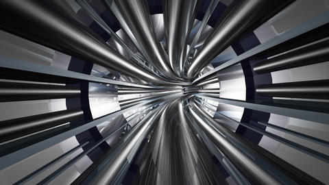 Tunnel tube metal A 01b HD Stock Video Footage